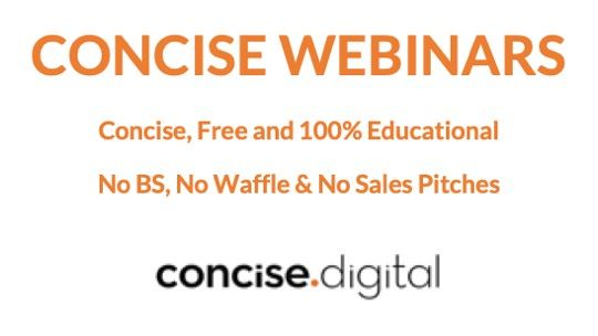 Concise Webinars Digital Marketing You Can Trust Australia