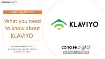 Klaviyo Concise Webinar Email Marketing